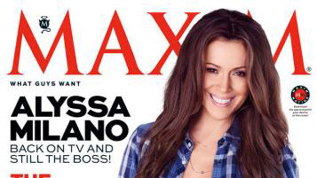 News video: Alyssa Milano Strips Down to Almost Nothing for Maxim!